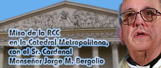 Misa con el Cardenal Bergoglio