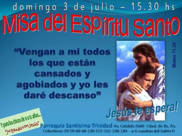 Invitacion misa Julio 2011